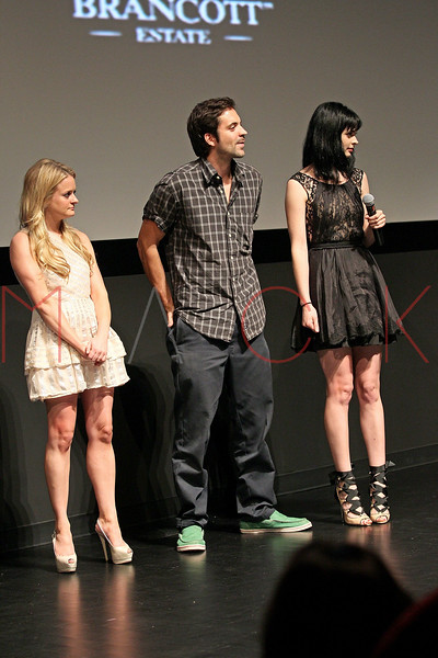 """NEW YORK, NY - AUGUST 15:  Fallon Goodson, Rhys Coiro and Krysten Ritter attend the Q&A of the special screening of """"Life Happens"""" at the Visual Arts Theater on August 15, 2011 in New York City.  (Photo by Steve Mack/S.D. Mack Pictures) *** Local Caption *** Fallon Goodson; Rhys Coiro; Krysten Ritter"""