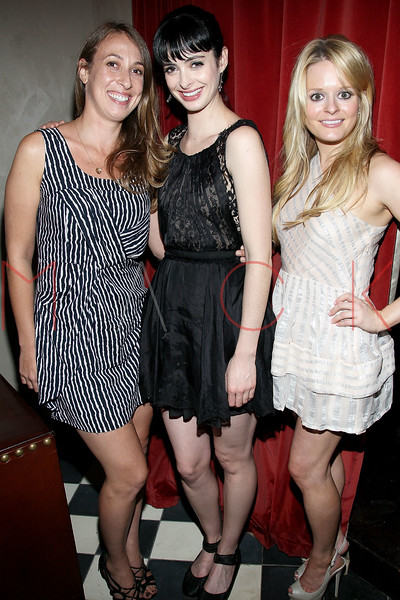"""NEW YORK, NY - AUGUST 15:  Producer Lauren Bratman with actors Krysten Ritter and Fallon Goodson at the special screening of """"Life Happens"""" after party at the Gramercy Terrace at The Gramercy Park Hotel on August 15, 2011 in New York City.  (Photo by Steve Mack/S.D. Mack Pictures) *** Local Caption *** Lauren Bratman; Krysten Ritter; Fallon Goodson"""