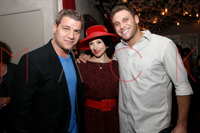 "NEW YORK, NY - AUGUST 15:  Tom Murro, Designer Stacey Bendet and Chris Nirschel attend the special screening of ""Life Happens"" after party at the Gramercy Terrace at The Gramercy Park Hotel on August 15, 2011 in New York City.  (Photo by Steve Mack/S.D. Mack Pictures) *** Local Caption *** Tom Murro; Stacey Bendet; Chris Nirschel"