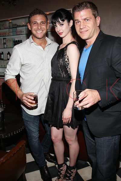 """NEW YORK, NY - AUGUST 15:  Chris Nirschel, Krysten Ritter and Tom Murro attend the special screening of """"Life Happens"""" after party at the Gramercy Terrace at The Gramercy Park Hotel on August 15, 2011 in New York City.  (Photo by Steve Mack/S.D. Mack Pictures) *** Local Caption *** Chris Nirschel; Krysten Ritter; Tom Murro"""