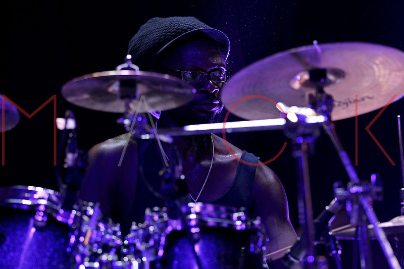 NEW YORK, NY - AUGUST 20:  Drummer Leslie James, Jr. performs at Brooklyn Bowl on August 20, 2011 in New York City.  (Photo by Steve Mack/S.D. Mack Pictures) *** Local Caption *** Leslie James; Jr.