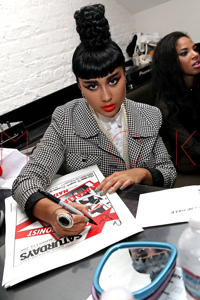 NEW YORK, NY - AUGUST 14:  Natalia Kills signing posters back stage at Splash NYC on August 14, 2011 in New York City.  (Photo by Steve Mack/S.D. Mack Pictures) *** Local Caption *** Natalia Kills