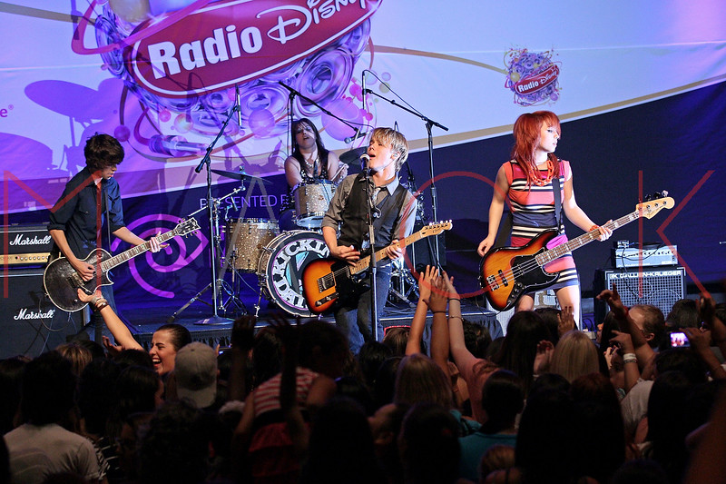 NEW YORK, NY - AUGUST 05:  Ben Spremulli, Caitlin Kalafus, Duran Visek and Ben Spremulli of The Kicking Daisies perform onstage at Radio Disney's Birthday Jam at the Hard Rock Cafe - Times Square on August 5, 2011 in New York City.  (Photo by Steve Mack/S.D. Mack Pictures) *** Local Caption *** Ben Spremulli; Caitlin Kalafus; Duran Visek; Ben Spremulli