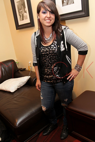 NEW YORK, NY - AUGUST 05:  Caitlin Kalafus of The Kicking Daisies back stage at Radio Disney's Birthday Jam at the Hard Rock Cafe - Times Square on August 5, 2011 in New York City.  (Photo by Steve Mack/S.D. Mack Pictures) *** Local Caption *** Caitlin Kalafus