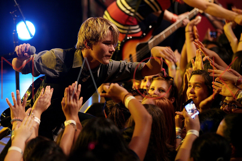 NEW YORK, NY - AUGUST 05:  Duran Visek of The Kicking Daisies performs onstage at Radio Disney's Birthday Jam at the Hard Rock Cafe - Times Square on August 5, 2011 in New York City.  (Photo by Steve Mack/S.D. Mack Pictures) *** Local Caption *** Duran Visek