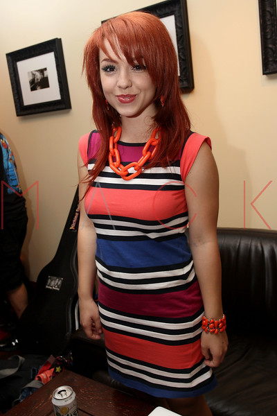 NEW YORK, NY - AUGUST 05:  Carly Kalafus of The Kicking Daisies backstage at Radio Disney's Birthday Jam at the Hard Rock Cafe - Times Square on August 5, 2011 in New York City.  (Photo by Steve Mack/S.D. Mack Pictures) *** Local Caption *** Carly Kalafus