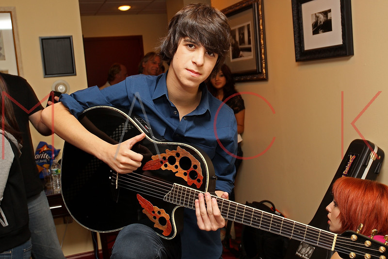 NEW YORK, NY - AUGUST 05:  Ben Spremulli of The Kicking Daisies back stage at Radio Disney's Birthday Jam at the Hard Rock Cafe - Times Square on August 5, 2011 in New York City.  (Photo by Steve Mack/S.D. Mack Pictures) *** Local Caption *** Ben Spremulli