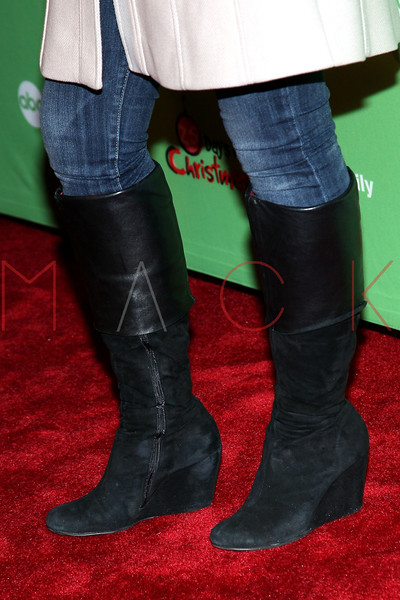 NEW YORK, NY - DECEMBER 04:  Vanessa Marano (footwear detail) attends the 2011 ABC Family 25 Days of Christmas Winter Wonderland event at Rockefeller Center on December 4, 2011 in New York City.  (Photo by Steve Mack/S.D. Mack Pictures)