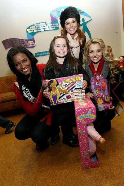 NEW YORK, NY - DECEMBER 13:  Miss Universe 2011 Leila Lopes, Miss USA 2011 Alyssa Campanella and Miss Teen USA 2011 Danielle Doty attend CitySights NY's 2nd annual Holiday Joy Toy drive at The Naomi Berrie Diabetes Center on December 13, 2011 in New York City.  (Photo by Steve Mack/S.D. Mack Pictures)