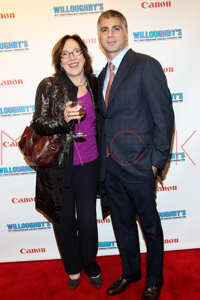 NEW YORK, NY - DECEMBER 05:  Kathleen Hays and CEO of Willoughby's Joseph Douek attends the launch of the Canon Boutique at Willoughby's on December 5, 2011 in New York City.  (Photo by Steve Mack/S.D. Mack Pictures)