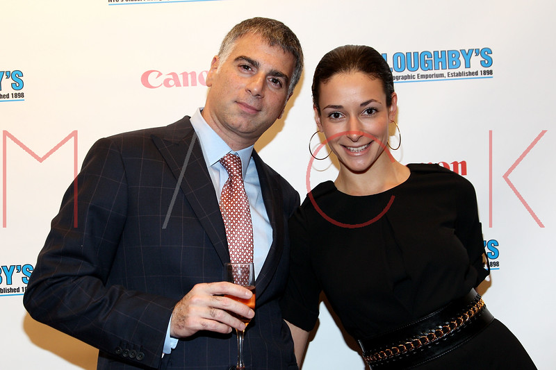 NEW YORK, NY - DECEMBER 05:  CEO of Willoughby's Joseph Douek and Natalya Gertsik attend the launch of the Canon Boutique at Willoughby's on December 5, 2011 in New York City.  (Photo by Steve Mack/S.D. Mack Pictures)