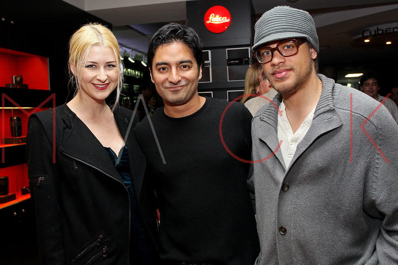 NEW YORK, NY - DECEMBER 05:  Alissa Lentz, Victor Medina-San Andres and Moises Pena attend the launch of the Canon Boutique at Willoughby's on December 5, 2011 in New York City.  (Photo by Steve Mack/S.D. Mack Pictures)