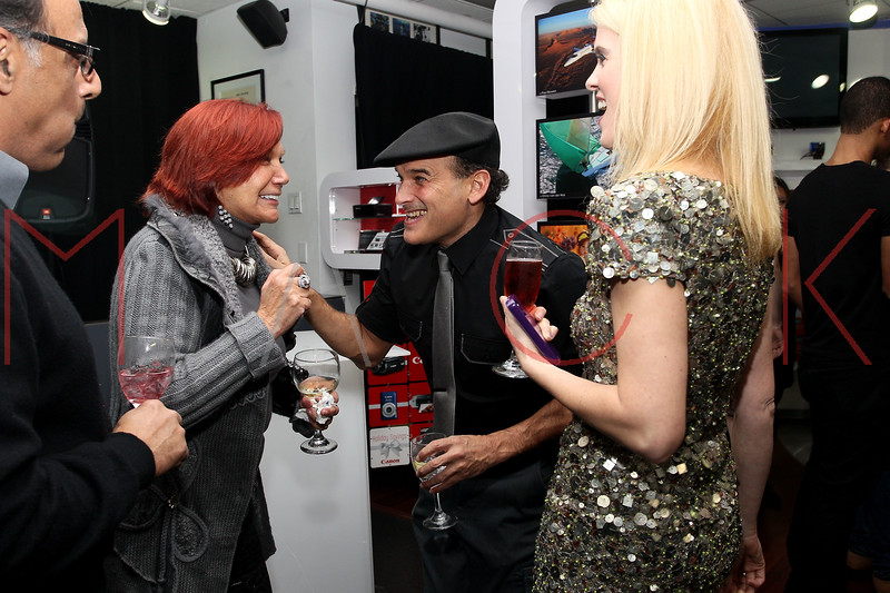NEW YORK, NY - DECEMBER 05:  Publicist Carmen D'Alessio, Phillip Bloch and Alex McCord attend the launch of the Canon Boutique at Willoughby's on December 5, 2011 in New York City.  (Photo by Steve Mack/S.D. Mack Pictures)