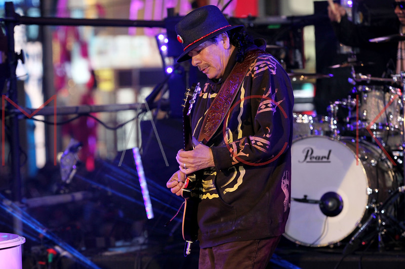 NEW YORK, NY - DECEMBER 31:  Carlos Santana performs at New Year's Eve 2012 in Times Square on December 31, 2011 in New York City.  (Photo by Steve Mack/S.D. Mack Pictures)