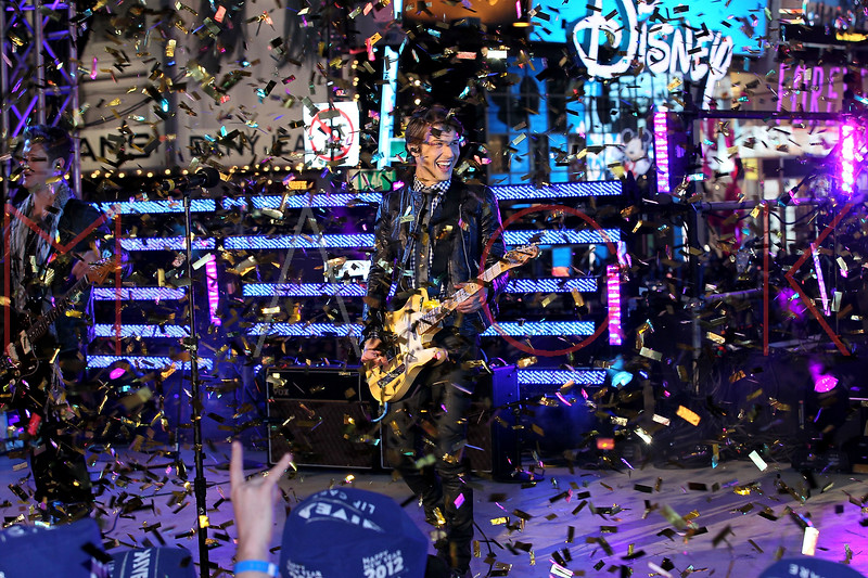 NEW YORK, NY - DECEMBER 31:  Ryan Follese of Hot Chelle Rae perform at New Year's Eve 2012 in Times Square on December 31, 2011 in New York City.  (Photo by Steve Mack/S.D. Mack Pictures)