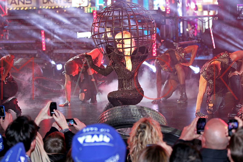 NEW YORK, NY - DECEMBER 31:  Lady Gaga performs at New Year's Eve 2012 in Times Square on December 31, 2011 in New York City.  (Photo by Steve Mack/S.D. Mack Pictures)