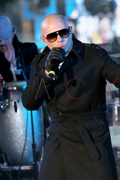 NEW YORK, NY - DECEMBER 31:  Pitbull performs at New Year's Eve 2012 in Times Square on December 31, 2011 in New York City.  (Photo by Steve Mack/S.D. Mack Pictures)