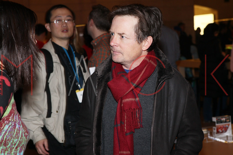 NEW YORK, NY - DECEMBER 09:  Michael J. Fox attends the grand opening of the Apple Store Grand Central on December 9, 2011 in New York City.  (Photo by Steve Mack/S.D. Mack Pictures)