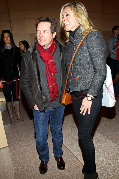 NEW YORK, NY - DECEMBER 09:  Michael J. Fox and Jane Krakowski attends the grand opening of the Apple Store Grand Central on December 9, 2011 in New York City.  (Photo by Steve Mack/S.D. Mack Pictures)