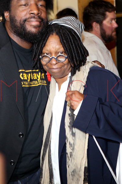 NEW YORK, NY - DECEMBER 09:  Quest Love' and Whoopie Goldberg attend the grand opening of the Apple Store Grand Central on December 9, 2011 in New York City.  (Photo by Steve Mack/S.D. Mack Pictures)