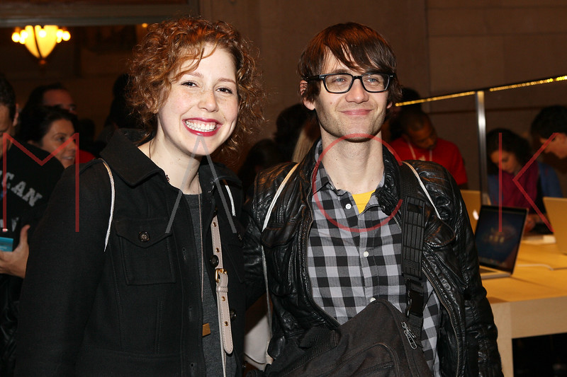 NEW YORK, NY - DECEMBER 09:  Vanessa Bayer and Paul Brittain attend the grand opening of the Apple Store Grand Central on December 9, 2011 in New York City.  (Photo by Steve Mack/S.D. Mack Pictures)