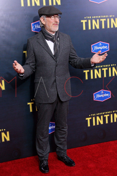"""NEW YORK, NY - DECEMBER 11:  Steven Spielberg attends the """"The Adventures of TinTin"""" New York premiere at the Ziegfeld Theatre on December 11, 2011 in New York City.  (Photo by Steve Mack/S.D. Mack Pictures)"""