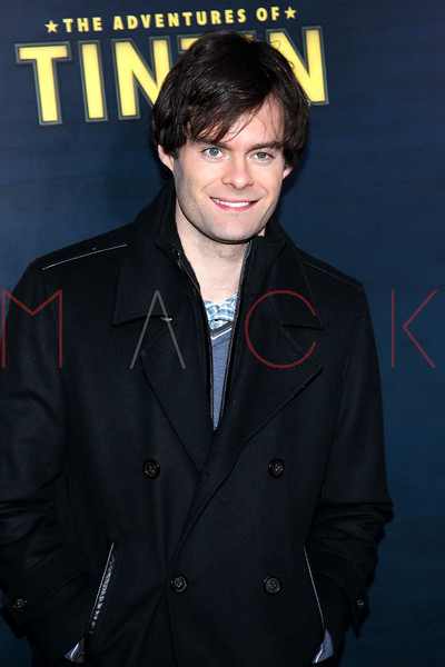 "NEW YORK, NY - DECEMBER 11:  Bill Hader attends the ""The Adventures of TinTin"" New York premiere at the Ziegfeld Theatre on December 11, 2011 in New York City.  (Photo by Steve Mack/S.D. Mack Pictures)"