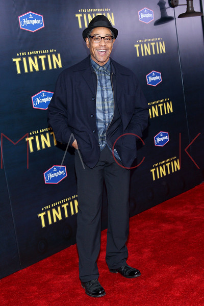 "NEW YORK, NY - DECEMBER 11:  Giancarlo Esposito attends the ""The Adventures of TinTin"" New York premiere at the Ziegfeld Theatre on December 11, 2011 in New York City.  (Photo by Steve Mack/S.D. Mack Pictures)"