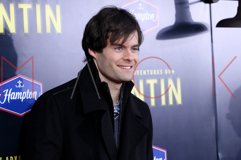 """NEW YORK, NY - DECEMBER 11:  Bill Hader attends the """"The Adventures of TinTin"""" New York premiere at the Ziegfeld Theatre on December 11, 2011 in New York City.  (Photo by Steve Mack/S.D. Mack Pictures)"""