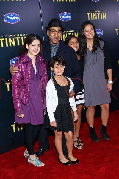 "NEW YORK, NY - DECEMBER 11:  Giancarlo Esposito (middle) attends the ""The Adventures of TinTin"" New York premiere at the Ziegfeld Theatre on December 11, 2011 in New York City.  (Photo by Steve Mack/S.D. Mack Pictures)"