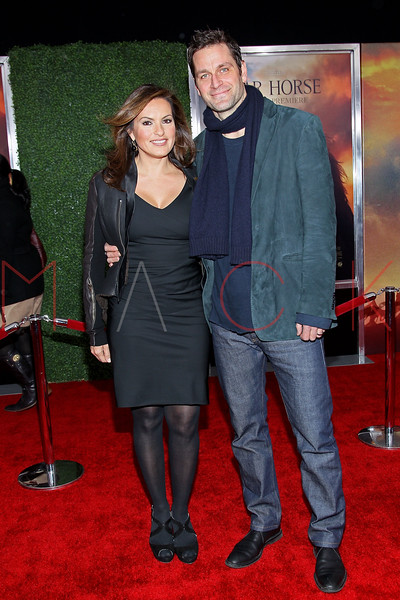 "NEW YORK, NY - DECEMBER 04:  Mariska Hargitay and Peter Hermann attend the ""War Horse"" world premiere at Avery Fisher Hall at Lincoln Center for the Performing Arts on December 4, 2011 in New York City.  (Photo by Steve Mack/S.D. Mack Pictures)"