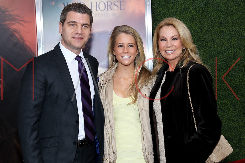 """NEW YORK, NY - DECEMBER 04:  Tom Murro, Cassidy Gifford and Kathie Lee Gifford attend the """"War Horse"""" world premiere at Avery Fisher Hall at Lincoln Center for the Performing Arts on December 4, 2011 in New York City.  (Photo by Steve Mack/S.D. Mack Pictures)"""