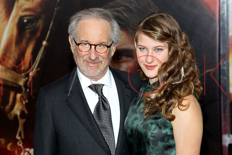 """NEW YORK, NY - DECEMBER 04:  Director and producer Steven Spielberg and daughter Destry Spielberg attend the """"War Horse"""" world premiere at Avery Fisher Hall at Lincoln Center for the Performing Arts on December 4, 2011 in New York City.  (Photo by Steve Mack/S.D. Mack Pictures)"""