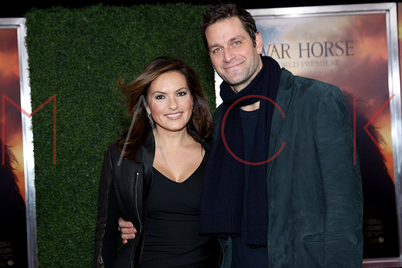 """NEW YORK, NY - DECEMBER 04:  Mariska Hargitay and Peter Hermann attend the """"War Horse"""" world premiere at Avery Fisher Hall at Lincoln Center for the Performing Arts on December 4, 2011 in New York City.  (Photo by Steve Mack/S.D. Mack Pictures)"""