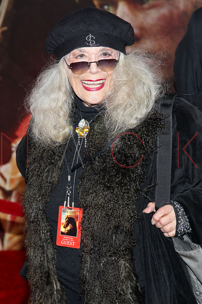 "NEW YORK, NY - DECEMBER 04:  Sylvia Miles attends the ""War Horse"" world premiere at Avery Fisher Hall at Lincoln Center for the Performing Arts on December 4, 2011 in New York City.  (Photo by Steve Mack/S.D. Mack Pictures)"