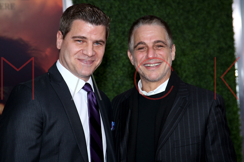 """NEW YORK, NY - DECEMBER 04:  Tom Murro and Tony Danza attend the """"War Horse"""" world premiere at Avery Fisher Hall at Lincoln Center for the Performing Arts on December 4, 2011 in New York City.  (Photo by Steve Mack/S.D. Mack Pictures)"""