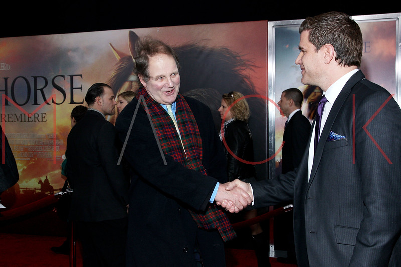 "NEW YORK, NY - DECEMBER 04:  Michael Morpurgo and Tom Murro attend the ""War Horse"" world premiere at Avery Fisher Hall at Lincoln Center for the Performing Arts on December 4, 2011 in New York City.  (Photo by Steve Mack/S.D. Mack Pictures)"