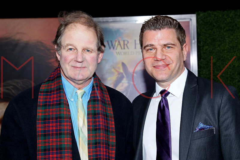 """NEW YORK, NY - DECEMBER 04:  Novelist Michael Morpurgo and Tom Murro attends the """"War Horse"""" world premiere at Avery Fisher Hall at Lincoln Center for the Performing Arts on December 4, 2011 in New York City.  (Photo by Steve Mack/S.D. Mack Pictures)"""