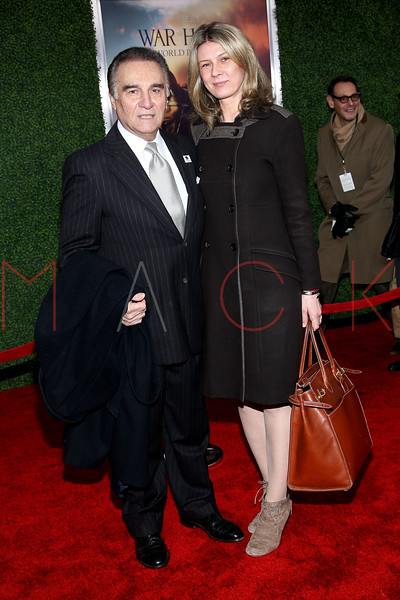 """NEW YORK, NY - DECEMBER 04:  Tony Lo Bianco and Daniela Zahradnikova attend the """"War Horse"""" world premiere at Avery Fisher Hall at Lincoln Center for the Performing Arts on December 4, 2011 in New York City.  (Photo by Steve Mack/S.D. Mack Pictures)"""