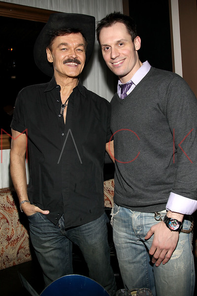 "NEW YORK, NY - FEBRUARY 12:  Randy Jones and Keith Collins attend the ""Bidendity Crisis"" official cast wrap party at Foundation Lounge on February 12, 2011 in New York City.  (Photo by Steve Mack/S.D. Mack Pictures) *** Local Caption *** Randy Jones; Keith Collins"