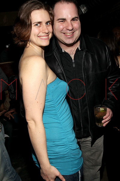 """NEW YORK, NY - FEBRUARY 12:  Candice Holdorf and Ken Del Vecchio attend the """"Bidendity Crisis"""" official cast wrap party at Foundation Lounge on February 12, 2011 in New York City.  (Photo by Steve Mack/S.D. Mack Pictures) *** Local Caption *** Candice Holdorf; Ken Del Vecchio"""