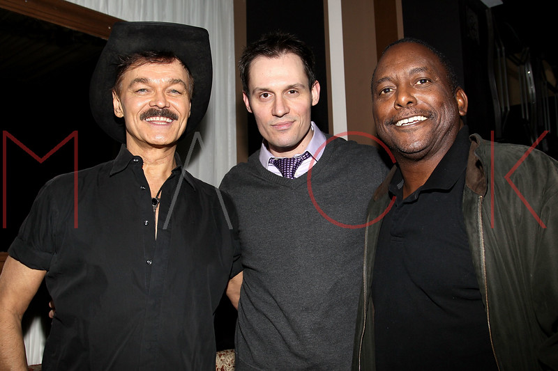 "NEW YORK, NY - FEBRUARY 12:  Randy Jones, Keith Collins and former professional baseball player Billy Sample attend the ""Bidendity Crisis"" official cast wrap party at Foundation Lounge on February 12, 2011 in New York City.  (Photo by Steve Mack/S.D. Mack Pictures) *** Local Caption *** Randy Jones; Keith Collins; Billy Sample"