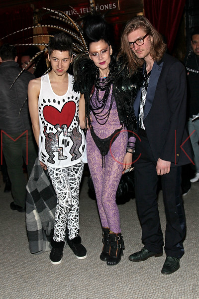 NEW YORK, NY - FEBRUARY 11:  Event Producer Susanne Bartsch (middle) attends the Patricia Field Disco Valentine's Ball at Capitale on February 11, 2011 in New York City.  (Photo by Steve Mack/S.D. Mack Pictures) *** Local Caption *** Susanne Bartsch
