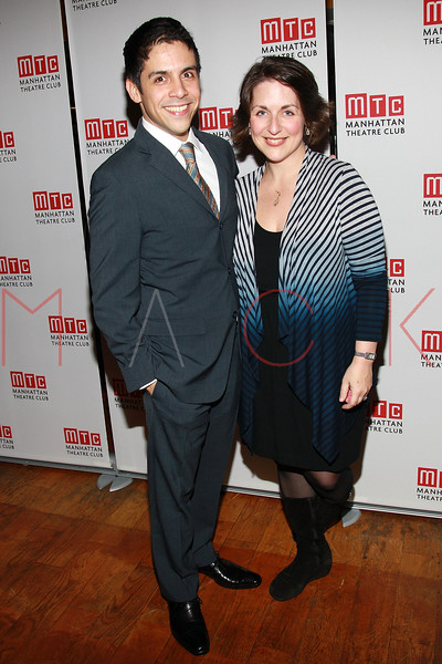"""NEW YORK, NY - FEBRUARY 01:  Matthew Lopez and Mandy Greenfield attend the party for the Manhattan Theatre Club's """"The Whipping Man"""" opening night at the Beacon on February 1, 2011 in New York City.  (Photo by Steve Mack/S.D. Mack Pictures) *** Local Caption *** Matthew Lopez; Mandy Greenfield"""