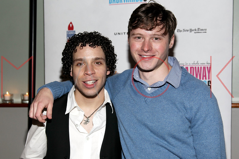 NEW YORK, NY - FEBRUARY 07:  Robin De Jesus and Bobby Steggert attend the after party for Broadway Backwards 6 at John's Pizzeria on February 7, 2011 in New York City.  (Photo by Steve Mack/S.D. Mack Pictures) *** Local Caption *** Robin De Jesus; Bobby Steggert