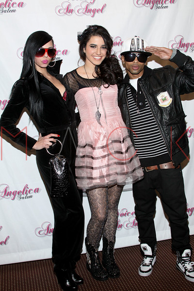 STAMFORD, CT - JANUARY 08:  Angelica (middle) with designers Swag Star performs during the Angelica Salem & friends benefit concert at the Stamford Palace Theatre on January 8, 2011 in Stamford, Connecticut.  (Photo by Steve Mack/S.D. Mack Pictures) *** Local Caption *** Angelica