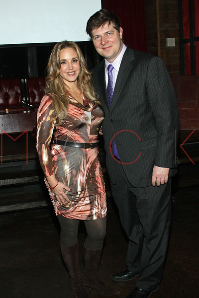 """NEW YORK, NY - JANUARY 11:  Andrea Correale and Mark W. Smith attend """"The Millionaire Matchmaker"""" Season Finale Viewing Party at Hudson Terrace on January 11, 2011 in New York City.  (Photo by Steve Mack/S.D. Mack Pictures) *** Local Caption *** Andrea Correale; Mark W. Smith"""