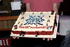 """NEW YORK, NY - JULY 16:  Cake is served in celebration of the 1000th performance of Broadway's """"Rock Of Ages"""" at Helen Hayes Theatre on July 16, 2011 in New York City.  (Photo by Steve Mack/S.D. Mack Pictures)"""