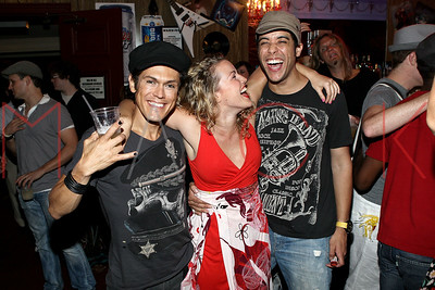 """NEW YORK, NY - JULY 16:  The 1000th performance of Broadway's """"Rock Of Ages"""" at Helen Hayes Theatre on July 16, 2011 in New York City."""