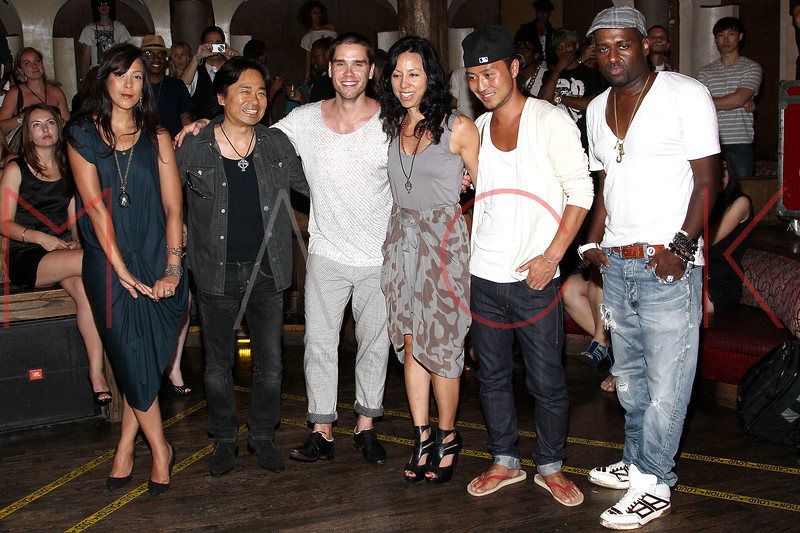NEW YORK, NY - JULY 18:  Mitsu Tsuchiya (2nd from left) attends the U.S. launch of Junks Tokyo/Japan at Kiss & Fly on July 18, 2011 in New York City.  (Photo by Steve Mack/S.D. Mack Pictures) *** Local Caption *** Mitsu Tsuchiya